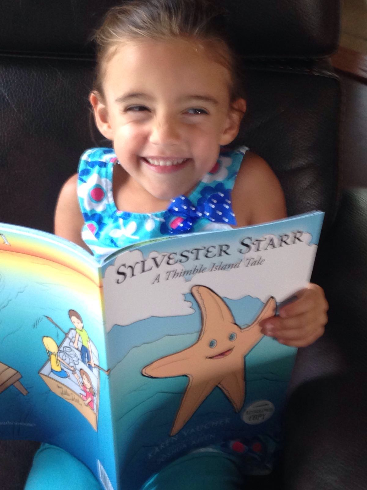 Girl reading Sylvester Starr